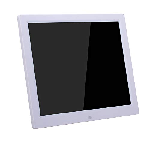 ZYLFN 14 Zoll Digital Photo Frame High Resolution Widescreen LCD, MP3 Music 1080P HD Video Playback, Auto On/Off Timer,White - Digital Zoll Photo 14 Frame