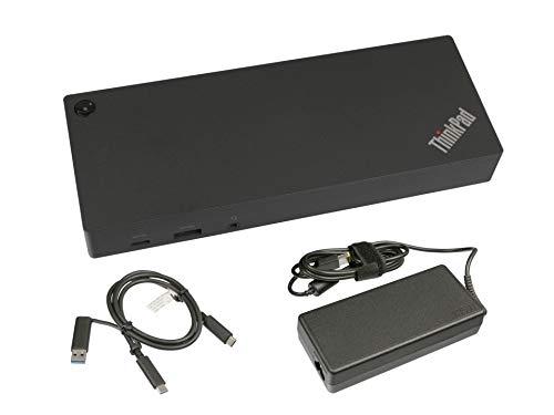 Lenovo USB-C/USB 3.0 Port Replikator inkl. Netzteil (135W) Original für One GameStar Notebook Ultra 17 (P970EN) Serie