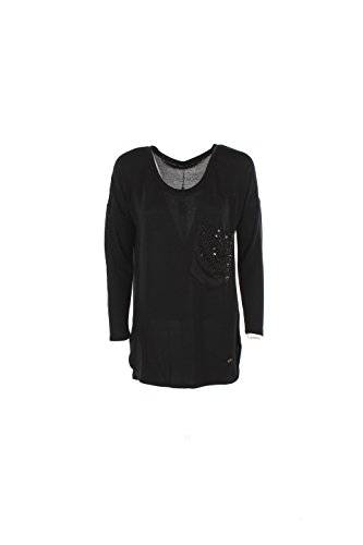 T-shirt Donna Yes-zee S Nero T017 C900 Autunno Inverno 2016/17