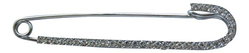 Brosche Boutique groß silber transparent Swarovski Elements Pin/Schal Pin/Pashmina Pin/Candy Cane