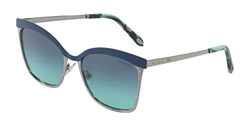 Tiffany & Co. Damen 0TY3060 61299S 55 Sonnenbrille, Blau (Bluette/Gunmetal/Blueegradient)