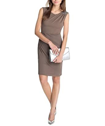 ESPRIT Collection Damen Kleid (knielang) 063EO1E041, Gr. 36 (S), Braun (chestnut 231)
