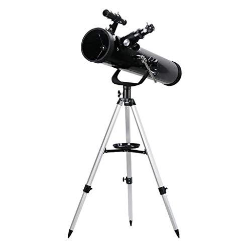 RUI - K25 Telescopio Reflector astronómico 700 / 76mm 525X HD Lente Profesional Monocular de Gran Calibre con buscador de trípode Alcance Filtro de Luna