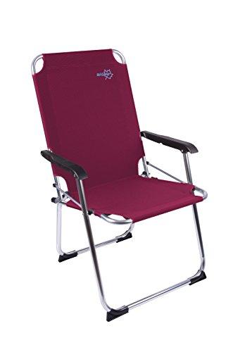 Bo-Camp Copa Rio XL - Klapp-Stuhl Aluminium weinrot 51x58x96cm Belastbarkeit 110kg