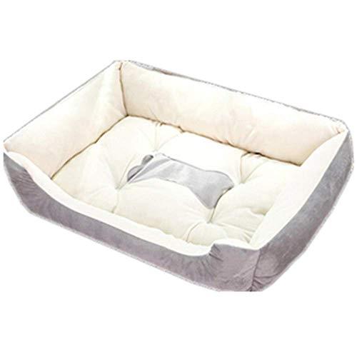 RuiHuang Sechs Größe Mode Hündchen Betten Katzen Haustier Betten Für Großen Hund KomfortablePlüsch Warme Und Große XL Hundebett Hellgrau S 60 cm X 45 cm X 15 cm -
