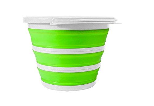 Jocca Plegable Cubo–Blanco/Verde/Gafas Plegable