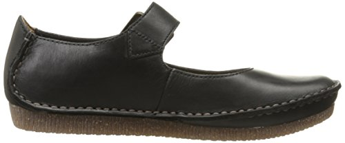 Clarks Janey giugno Mary Jane piatto Black Leather