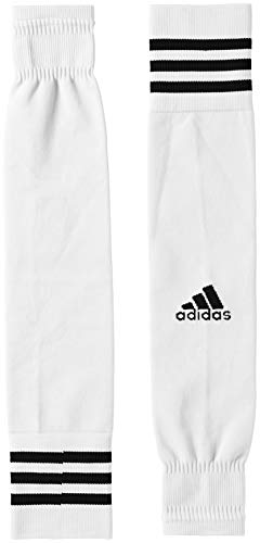 adidas Kinder Team Sleeve 18 Stutzen, White/Black, EU 34-36