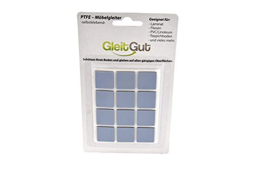 Gebraucht, GLEITGUT 12 x Teflongleiter selbstklebend 22 x 22 mm gebraucht kaufen  Wird an jeden Ort in Deutschland