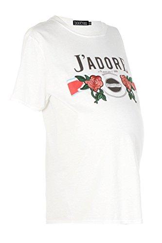 blanc Femmes Alicia T-shirt de grossesse imprimé Femme Blanc