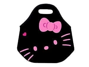 Rose kitty Boîte à repas isotherme pour enfant Souple de protection en néoprène Sac repas isotherme pour nourriture chaude Pochette sac à main pour le travail de bureau