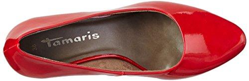 Tamaris 22423, Escarpins Femme Rouge (Chili Patent 520)