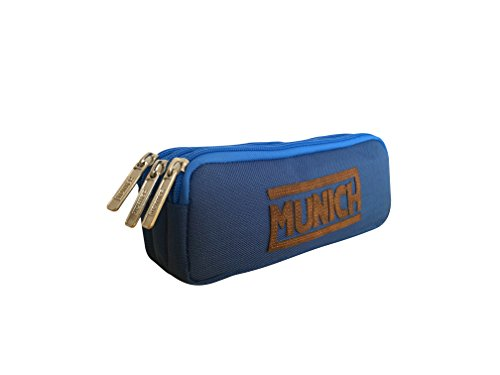 Munich 252863 Leather Neceser, 21 cm, Azul Marino