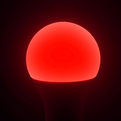 Luminea WiFi LED: WLAN-LED-Lampe, komp. mit Alexa Voice Service, E27, RGBW, 10 Watt, A+ (WLAN Leuchtmittel) - 5