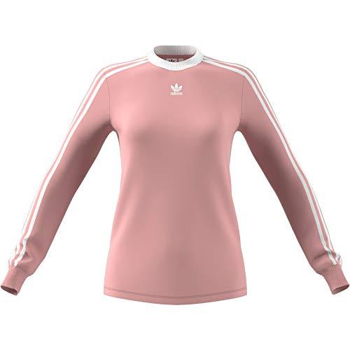 adidas Damen 3-Stripes Longsleeve, Pink Spirit, 38 (Adidas Langarm-polo)