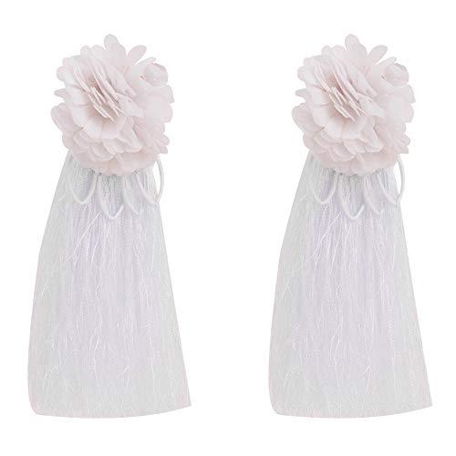 YDGCYK Ohrringe Lace Floral Fringe Earrings Damen Modeschmuck Bohemian Long Earrings, White Ohrhänger White Lace Fringe