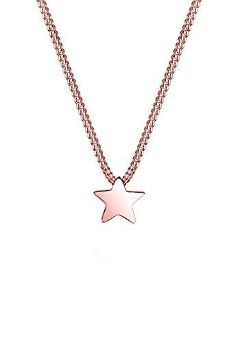 Elli Halskette Damen Halskette mit Basic Stern Anhänger Filigran in 925 Sterling Silber 45 cm lang