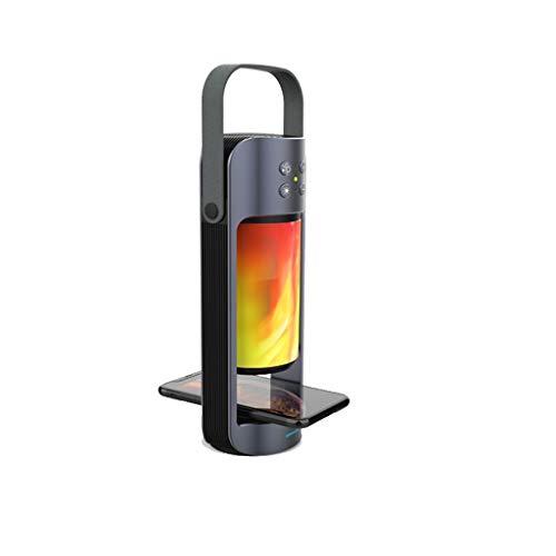 Mumuj Fast Wireless Charger, Kabelloses Ladegerät Qi-Zertifiziert Induktions Mit Bluetooth-Lautsprecher Flamme Leuchtet Tragbar Halterung für iPhone X XR XS XS Max für Samsung Galaxy S9 usw