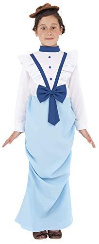hmes Viktorianisches Mädchen Kostüm, Kleid und Hut, Größe: L, 38638 ()