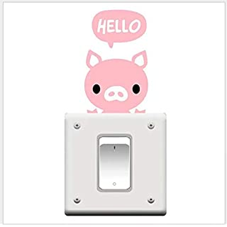 Pig Pet Light Switch Funny Wall Decal Vinyl Sticker