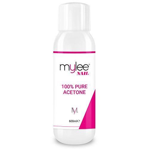 Price comparison product image Mylee 100% Pure Acetone Nail Polish Remover High Quality for UV / LED Gel (600ml)