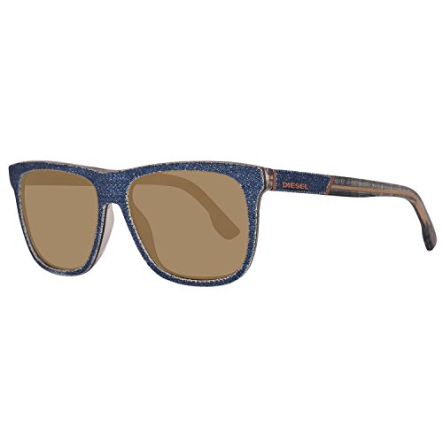 Diesel sonnenbrille dl0169 5492l, occhiali da sole unisex-adulto, blu (blau), 54