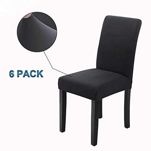 Veakii R Fundas para sillas Pack de 6 Fundas sillas Comedor, Lavable...