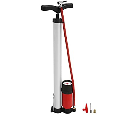 Floor Bicycle Pump With Pressure Gauge Up to 7 bar (100 psi)