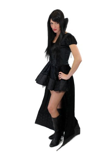 ig & Sexy Kostüm Damenkostüm Kleid Böse Königin Hexe Vampirin Vampir Gothic Queen of the Damned Gr. 40, M (Elvira Kostüm Uk)