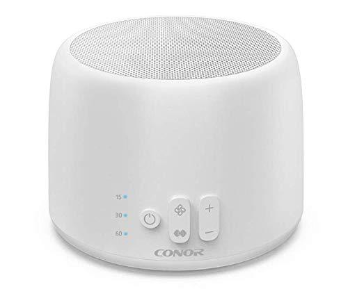 Macchina rumore bianco, Conor White Noise Sound Machine, 24 Suoni fan esclusivi e suoni White Noise con caricatore USB a 2 porte, timer per il sonno, portatile per casa, ufficio, viaggi