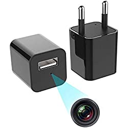 IFITech 1080p HD Hidden Camera, Plug USB Charger, 128GB SD Card Support(not included), 2 Mode Recording, Nanny cam
