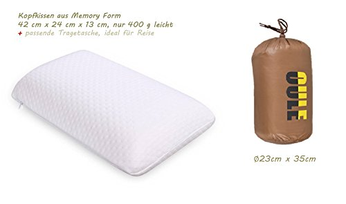 Cuscino cervicale cuscino cuscino da viaggio in memory foam Thermo attivo e Viscoelastico ortopedico con borsa per il trasporto