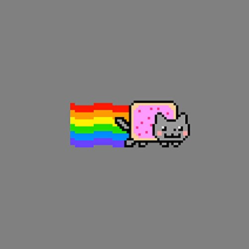 Nyan Cat - Herren Langarm T-Shirt Rot