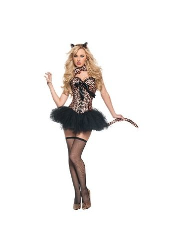 Deluxe Sexy Leopard Fancy Dress Costume X-Large