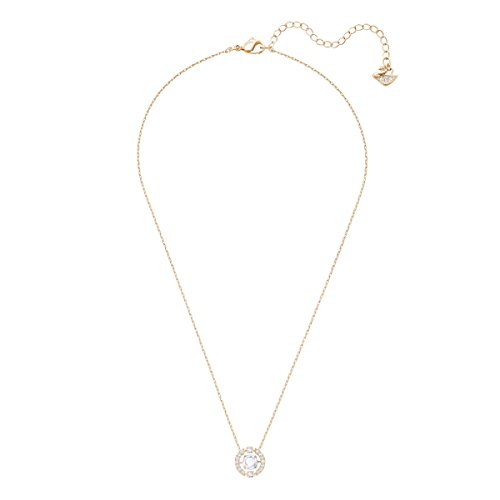 Swarovski Women's Rose Gold Plating and White Crystal Sparkling Dance Necklace Pendant
