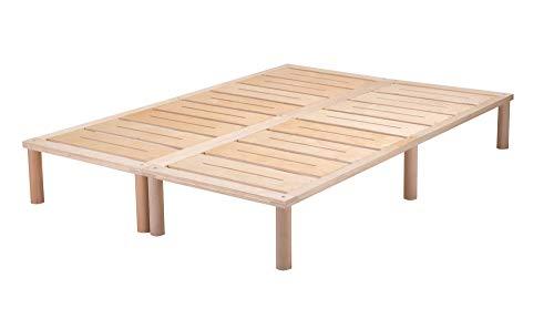 Gigapur G1 26974 Bett | Bettgestell mit Lattenrost | belastbar bis 195 Kg je Element | Holzbett 140 x 200 cm
