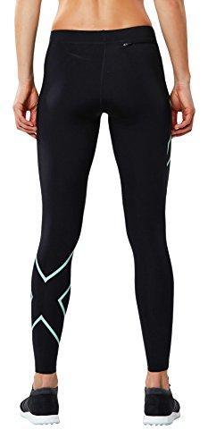2XU Damen Compression Shorts Perform Kompressionshose Black/Soft Cell Logo