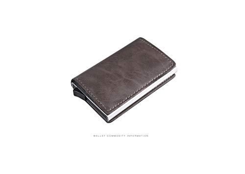 Daisy-Life Rfid Kreditkarten-Etui aus Aluminiumlegierung, Diebstahlschutz, automatisches Aufklappen, silberfarben -