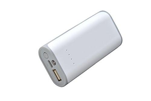Aricona Power Bank 5200 mAh in grau - externer & mobiler USB PowerBank Akku, paralleler Ladevorgang für bis zu Zwei Handy 's, Smartphones & Tablets - der Power Pack Charger