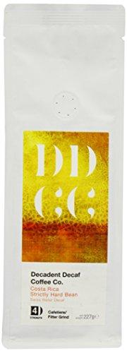 Koffeinfreier Kaffee aus Costa Rica, mittels Schweizer-Wasser-Prozess entkoffeiniert, Decadent Decaf...