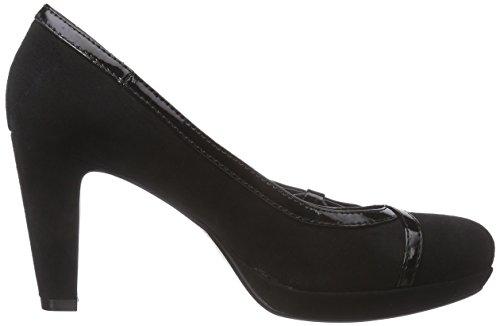 Bugatti V4965PR6VL, Chaussures à talons avec plateau femme Noir (Schwarz 100)
