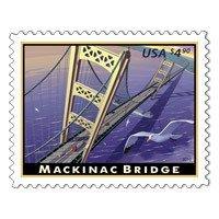 Mackinac Bridge Michigan Mighty Mac 2010 $4.90 Priority Mail Single Stamp Scott 4438 by USPS -