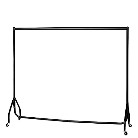 6ft Garment Rail Heavy Duty Steel Black Clothes Hanging Carboot Display Rail