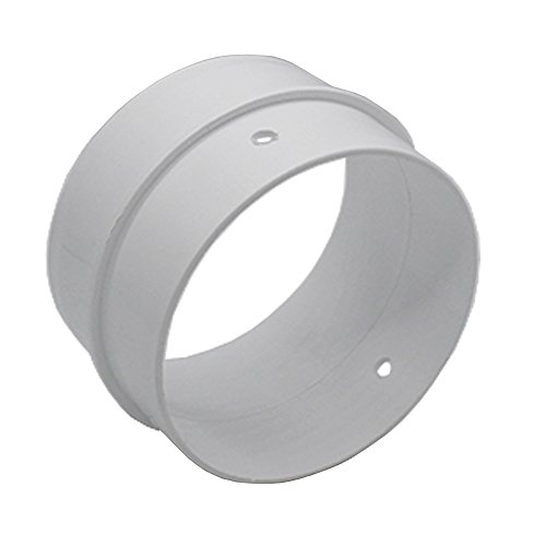 Kair 4 inch / 100mm Round Ducting Connector - Pipe Connector Joint - SYS-100 - DUCEK28 by Kair