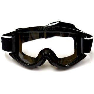 Brillen für Erwachsene schwarz Quad Bike Moto X (Goggles Pro Racing)