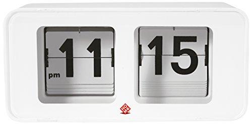 Home Flip TimeTischuhr, Stahl, Weiß