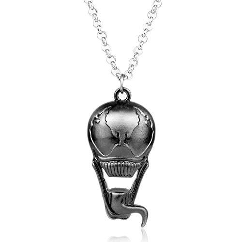 DADATU Halsketten für Herren Aliens V Predator Choker Halskette Cool Avp Alien Anhänger Halskette Flaschenöffner Schmuck Film Zubehör Geschenk