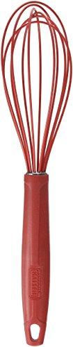 Kaiser Schneebesen groß 29 cm Kaiserflex Red 100% lebensmittelechtes Silikon mit Metallkern spülmaschinengeeignet hohe Formstabilität und Flexibilität Rührbesen Quirl