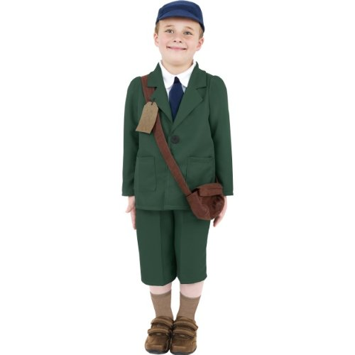 Kostüm Boy Dress Evacuee Fancy - Gemz Fancy Dress World War Ii Evacuee Boy Costume - Medium