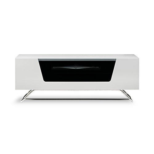 Alphason Chromium 2 1000 White - TV Cabinet Fits Up to 50inch TVs Best Price and Cheapest